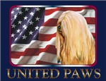 Lhasa Apso United Paws USA Flag Style
