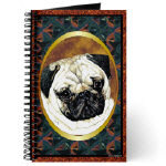 Beautiful Pug Dog Journals