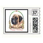 Mastiff Dog Holiday Stamps Cards Prints Posters