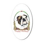 Bulldog Holiday Stickers