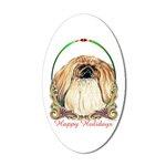 Pekingese Peke Dog Holiday Stickers