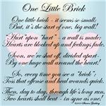 ONE LITTLE BRICK-POEM