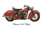 Classic Indian, Harley Davidson & Honda Motorcycles vintage t-shirts & gifts.