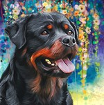 Rottweiler Painting