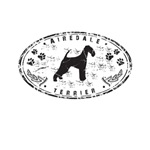 Grunge Airedale Emblem