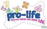 Pro-Life Flowers & Butterfly