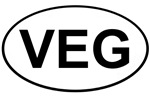 Vegetarian Oval Stickers