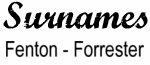 Vintage Surname - Fenton - Forrester