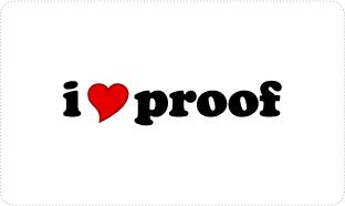 I Love Proof T-shirts