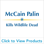 McCain Palin - Kills Wildlife Dead