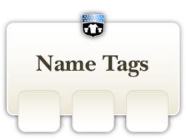 Name tag t-shirts