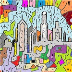 Psychedelic Skyline Art Gifts
