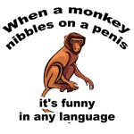 When a Monkey Nibbles on a Penis