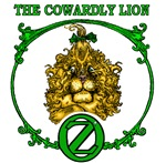He stays and fights, even though he's terribly frightened! In this section are Cowardly Lion of Oz T-shirts, mugs and more, all with the Cowardly Lion bravely facing the world!