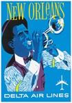 New Orleans, Jazz, Vintage Poster