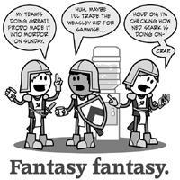 Fantasy fantasy. (Greyscale)