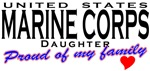 Proud United States Marine Corps Daughter T-shirts