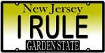 I RULE New Jersey Vanity License Plate Design