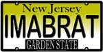 I'M A BRAT New Jersey Vanity License Plate Design