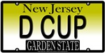 D CUP New Jersey Vanity License Plate Design