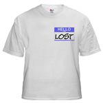 Small Hello I Am Lost Sticker Shirts