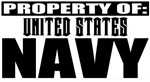 Property of US Navy Military T-shirts & gifts