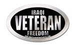 iraqi freedom veteran oval sticker