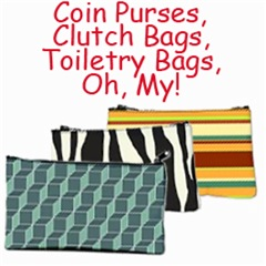 Coin Purse and Clutch Bags, Toiletry Bags
