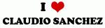 I Love CLAUDIO SANCHEZ