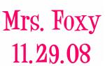 Mrs. Foxy 11.29.08