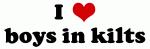 I Love boys in kilts