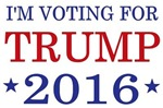 I'm voting for Trump 2016