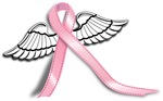 Breast Cancer Awareness winged Ribbon