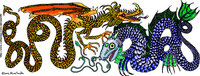 Fire Drake and Sea Serpent