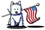 US Flag Westie