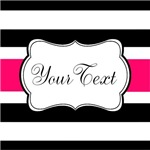 Personalizable Hot Pink Stripes