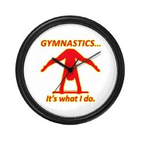 Gymnastics Clocks (Small) - Great gifts!
