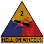 2nd Armored Division - Hell On Wheels - Vintage