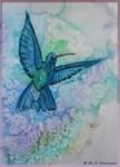 Hummingbird, bird art!