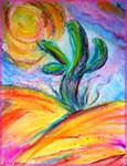 Saguaro cactus art