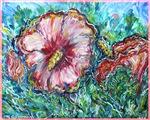 Rose of Sharon, floral, art,