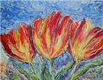 Tulips, bright, art,