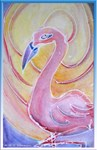 flamingo, colorful art
