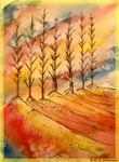 Landscape, trees, colorful art!