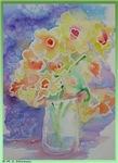 Daffodils! Spring flowers! Art!