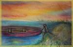 Boat! Colorful art!