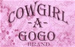 Cowgirl -A- GoGo Chrome and Pink Logo