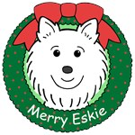 American Eskimo Dog Christmas Ornaments