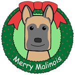 Belgian Malinois Christmas Ornaments