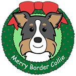 Border Collie Christmas Ornaments